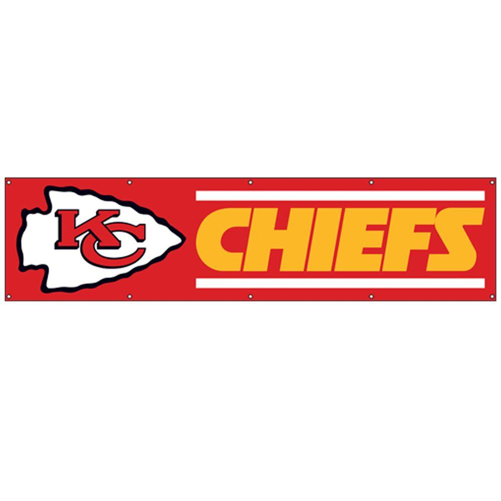 Party Animal 8 ft. x 2 ft. NFL License Chiefs Team Banner-DISCONTINUED