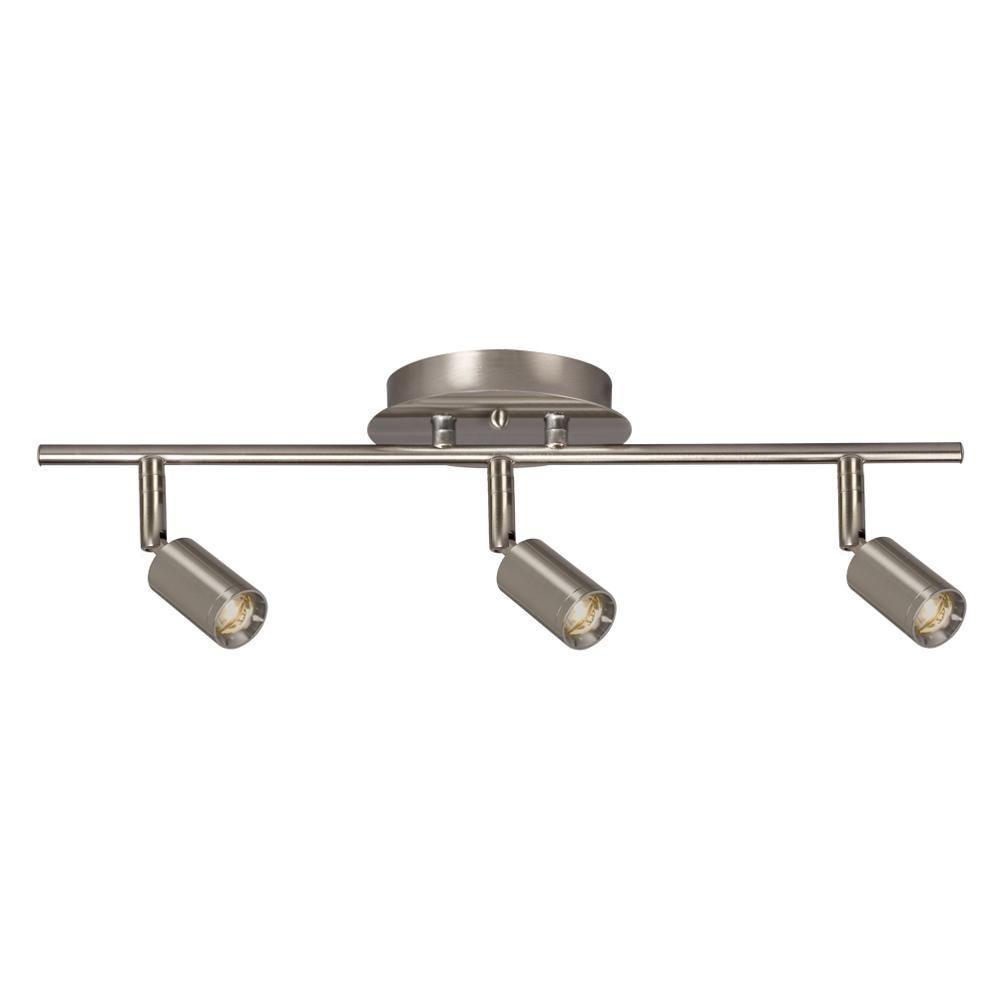 Filament Design Hudson 3-Light Brushed Nickel Track