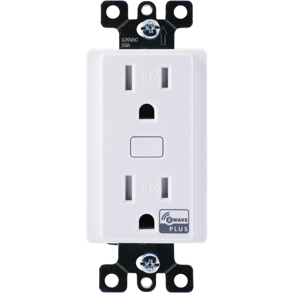 Honeywell Z Wave Plus Tamper Resistant Single Smart Outlet