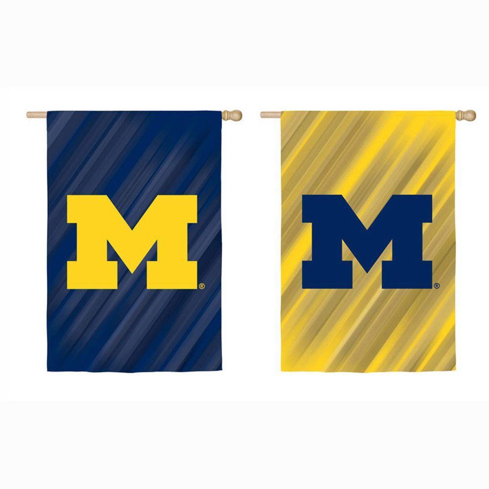 Fan Essentials NCAA 18 in. x 12.5 in. University of Michigan Suede Garden Flag