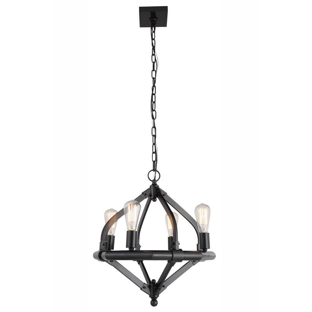 Elegant Lighting Illumina 4 Light Bronze Pendant Lamp
