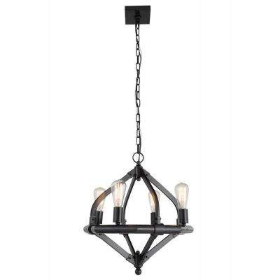Illumina 4-Light Bronze Pendant Lamp