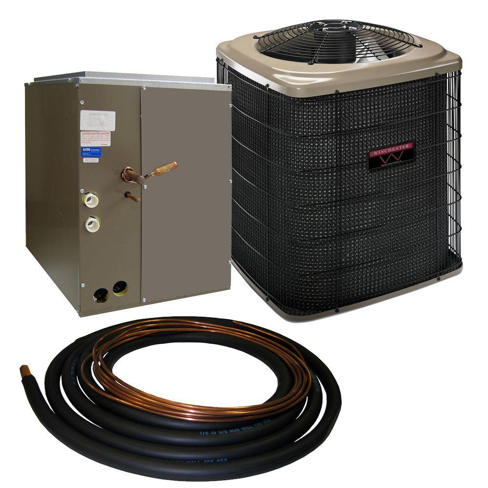 Winchester 1.5 Ton 13 SEER Sweat Air Conditioner System with 14.5 in. Coil and 30 ft. Line Set