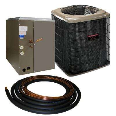 1.5 Ton 13 SEER Sweat Air Conditioner System with 14.5 in. Coil and 30 ft. Line Set