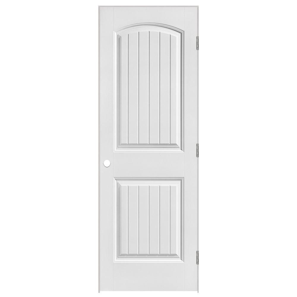 28 in. x 80 in. Solidoor Cheyenne 2-Panel Solid-Core Smooth Primed Composite Single Prehung Interior Door