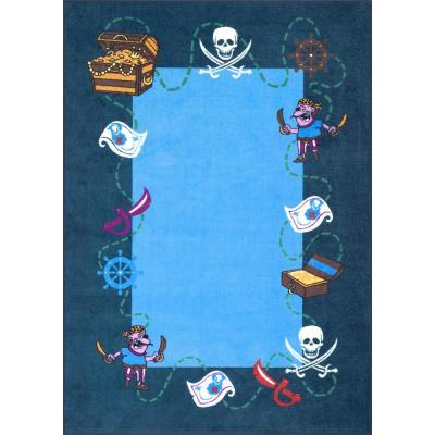 Pirate Playmat Blue 3 ft. x 5 ft.  Area Rug