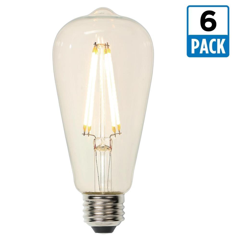 40w Equivalent Soft White Vintage Filament A19 Dimmable: Westinghouse 40W Equivalent Soft White ST20 Dimmable