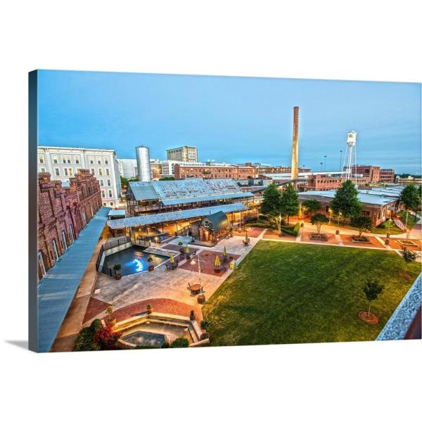 GreatBigCanvas ''Aerial view of the American Tobacco Historic District campus at