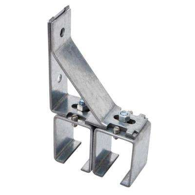 Galvanized By-Pass Box Rail Splice Bracket with Lags