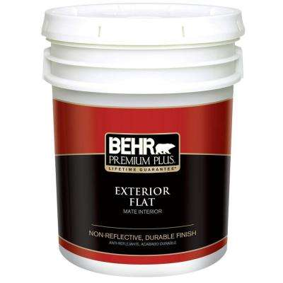 5 Gal. Ultra-Pure White Flat Exterior Paint