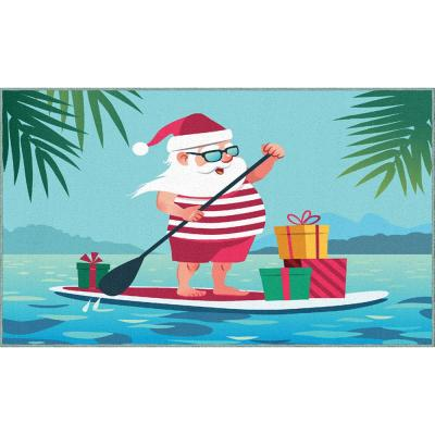 Mohawk Home Paddleboard Santa Multi 1 ft. 6 in. x 2 ft. 6 in. Scatter Area Rug