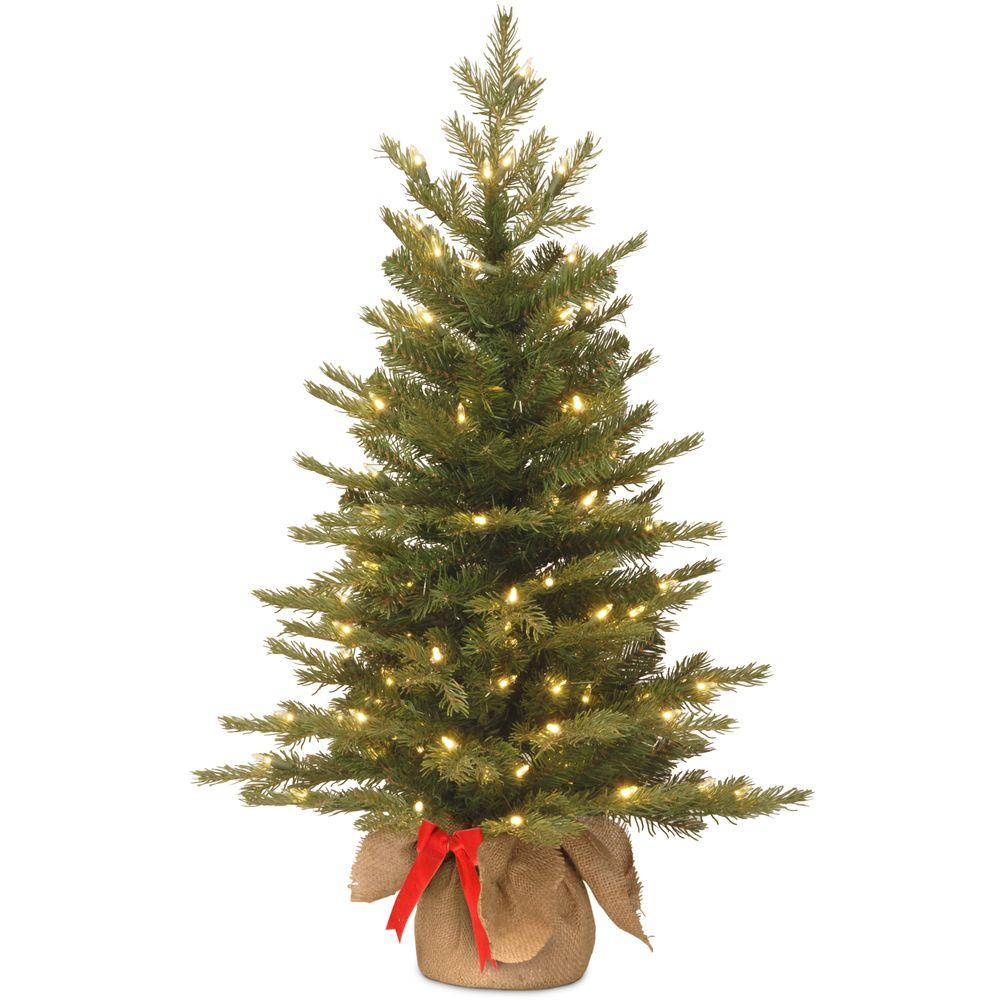 Pre Lit Outdoor Christmas Trees Battery Operated.National Tree Company 3 Ft Nordic Spruce Artificial Christmas Tree With Battery Operated Warm White Led Lights