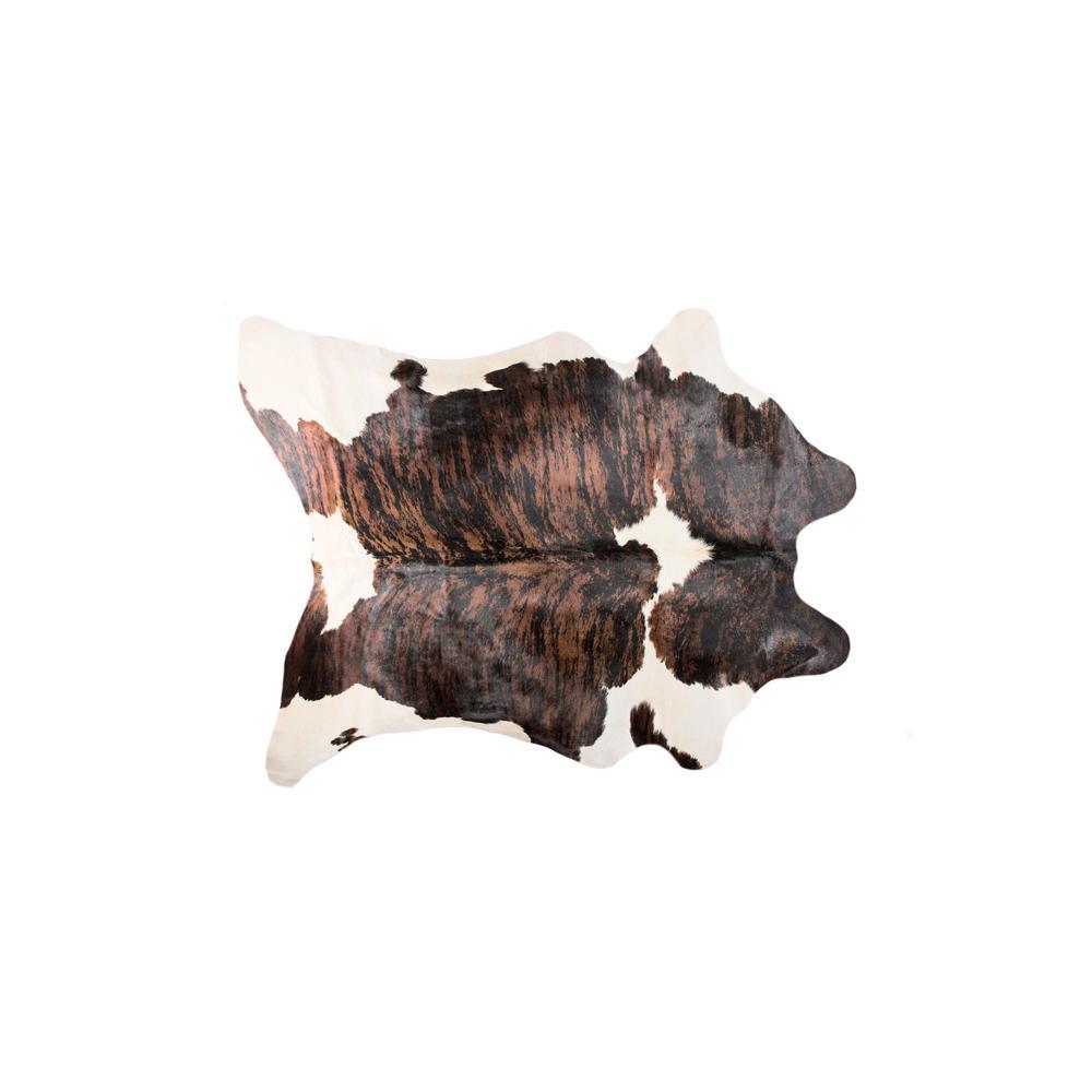KOBE COWHIDE TOURNESOL BROWN/WHITE 5 ft. x 7 ft. AREA RUG