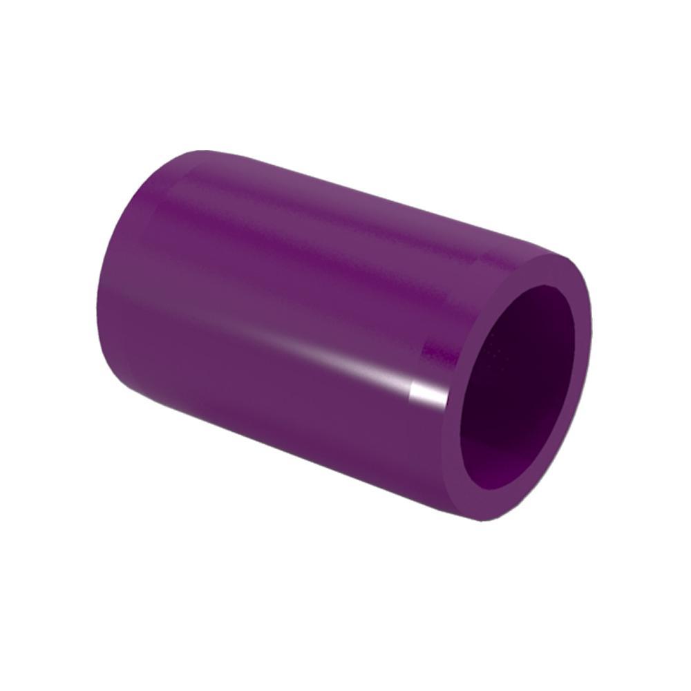 1/2 in. Furniture Grade PVC External Coupling in Purple (10-Pack)