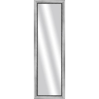 Large Rectangle Stainless Silver Art Deco Mirror (51.875 in. H x 15.875 in. W)