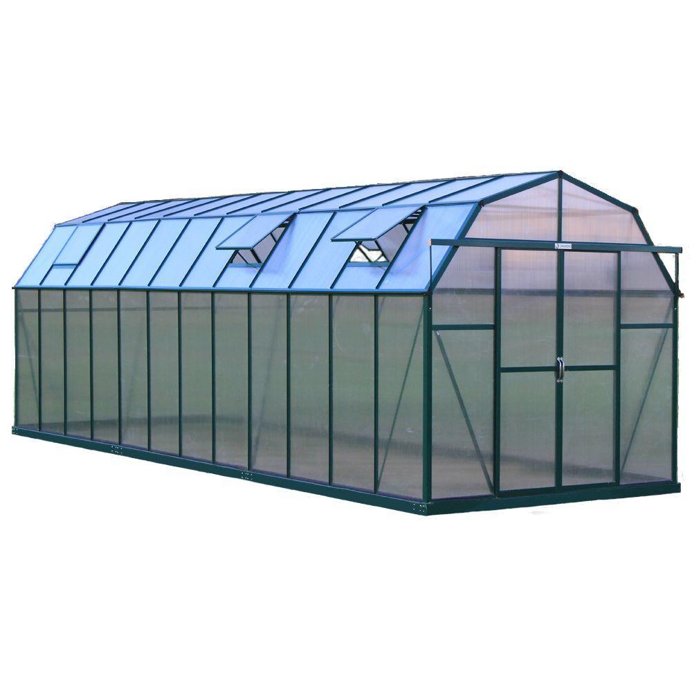 Grandio Greenhouses Elite 8 ft. W x 24 ft. D x 8 ft. H Heavy-Duty Aluminum Greenhouse Kit