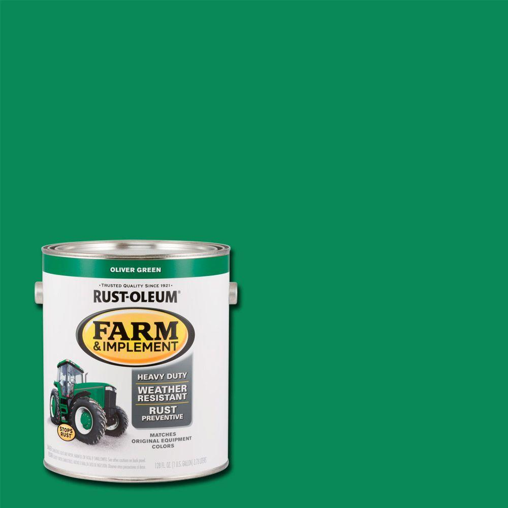 Rust Oleum 1 Gal Farm And Implement Oliver Green Paint