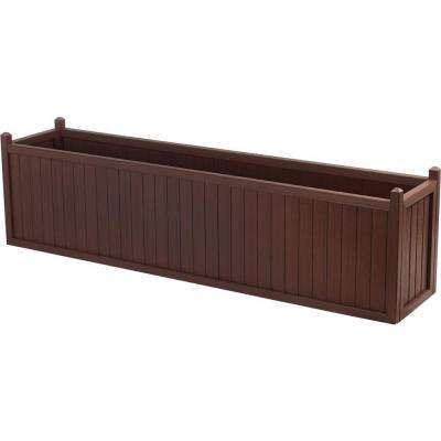 69 in. x 16 in. Smoke All Weather Composite Planter