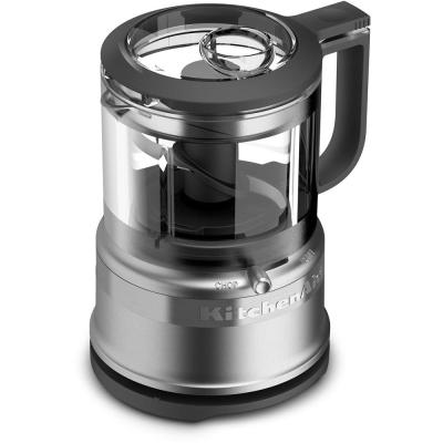 Mini 3.5-Cup 2-Speed Contour Silver Food Processor with Pulse Control