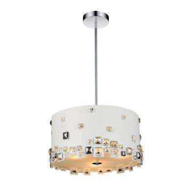 Shadow 6-Light White Chandelier