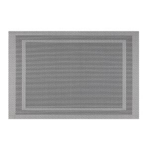 Kraftware EveryTable Double Border Gray Placemat (Set of 12) by Kraftware