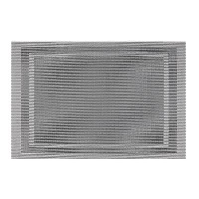 EveryTable Double Border Gray Placemat (Set of 12)