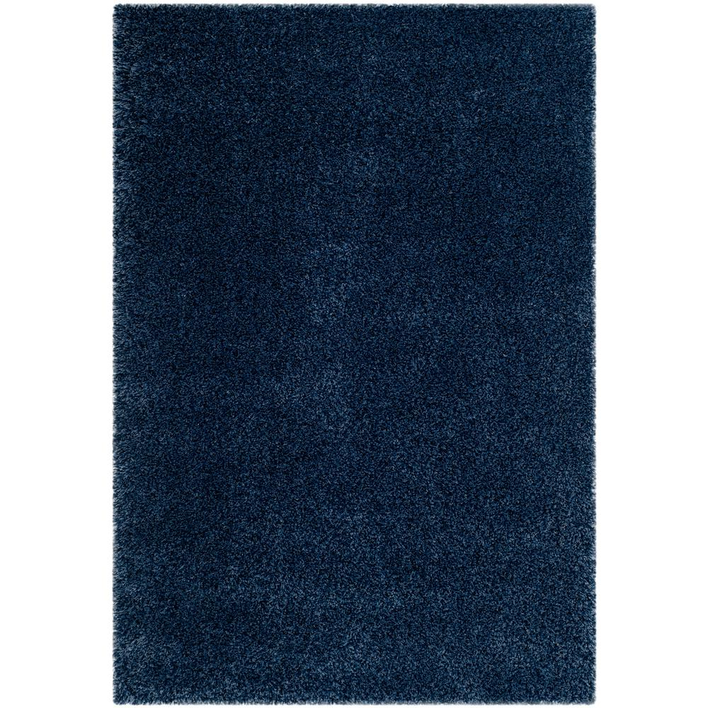 California Shag Navy 8 ft. 6 in. x 12 ft. Area