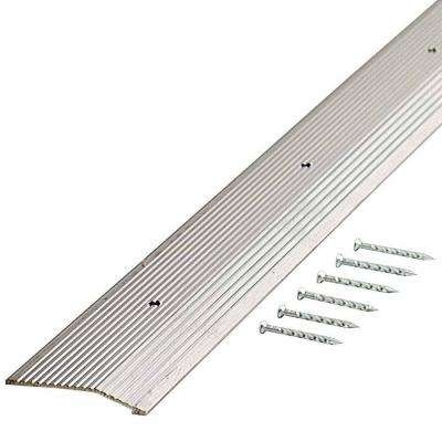 Silver Fluted 72 in. x 2 in. Carpet Trim