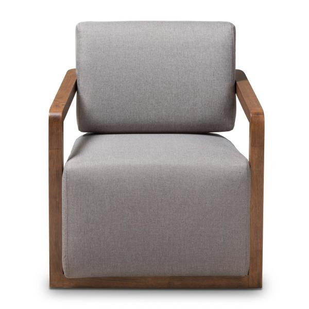 Baxton Studio Sawyer Gray Fabric Arm Chair 28862-7844-HD