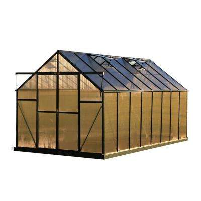 Ascent 8 ft. W x 16 ft. D x 8 ft. H Heavy-Duty Aluminum Greenhouse Kit