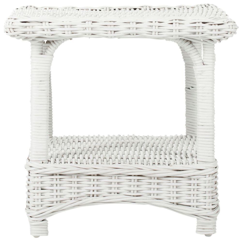 Bowen White Side Table