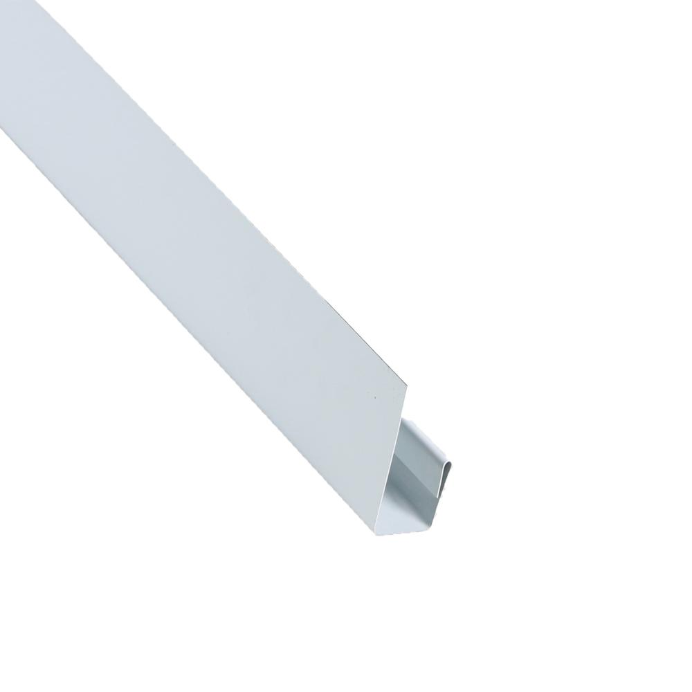 2 in. x 10.5 ft. Steel J-Channel Bright White Drip Edge