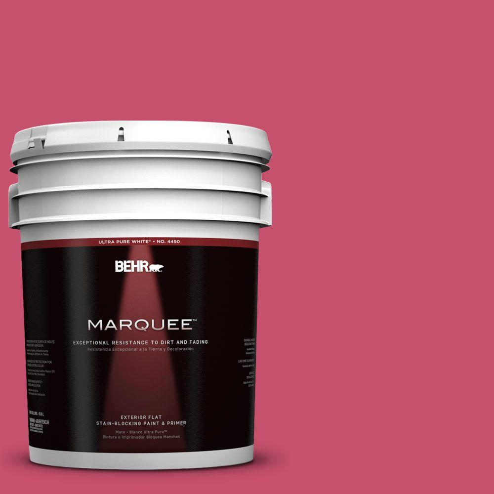 BEHR MARQUEE 5-gal. #120B-7 Tropical Smoothie Flat Exterior Paint
