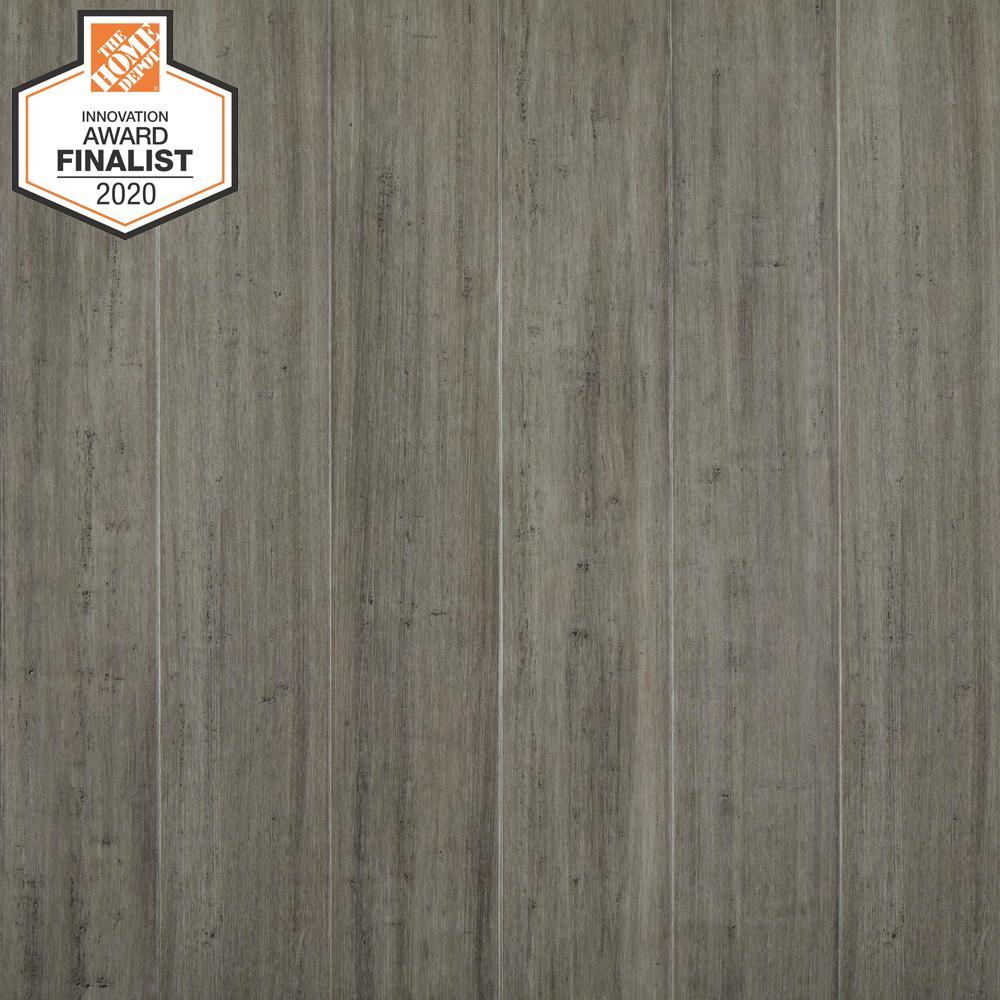 Berkeley 7 mm T x 5.12 in. W x 36.22 in. L Waterproof Engineered Click Bamboo Flooring (15.45 sq. ft./case)