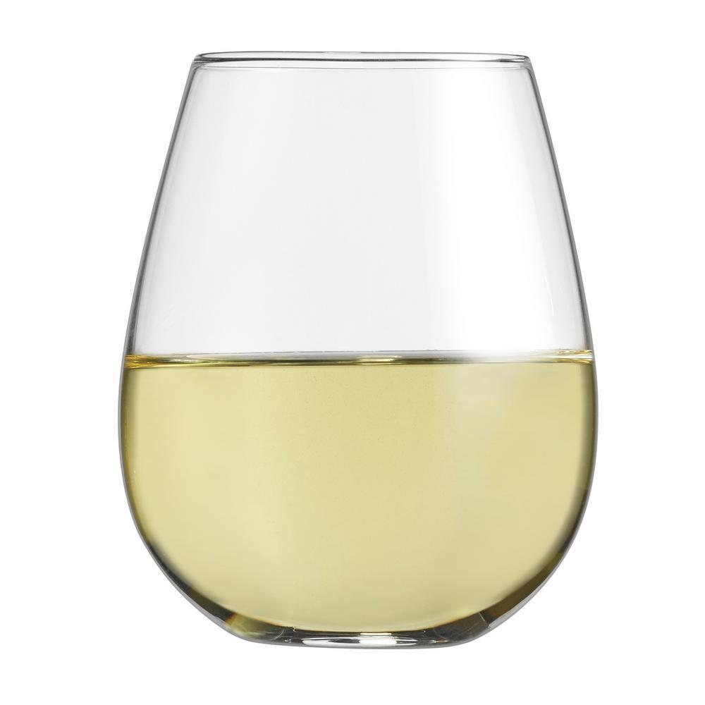 15.5 Oz. Stemless White Wine Glasses (Set of 4)