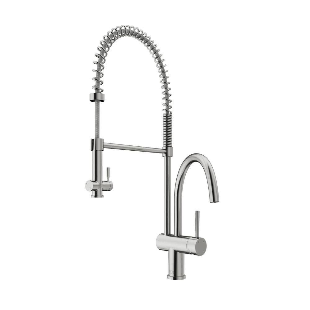 VIGO Dresden Single-Handle Pull-Down Sprayer Kitchen Faucet in ...