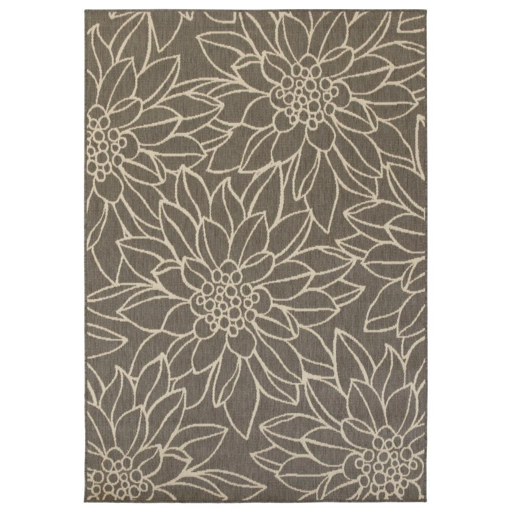 Home Decorators Indoor Outdoor Rugs: Home Decorators Collection Elsie Grey 2 Ft. X 12 Ft