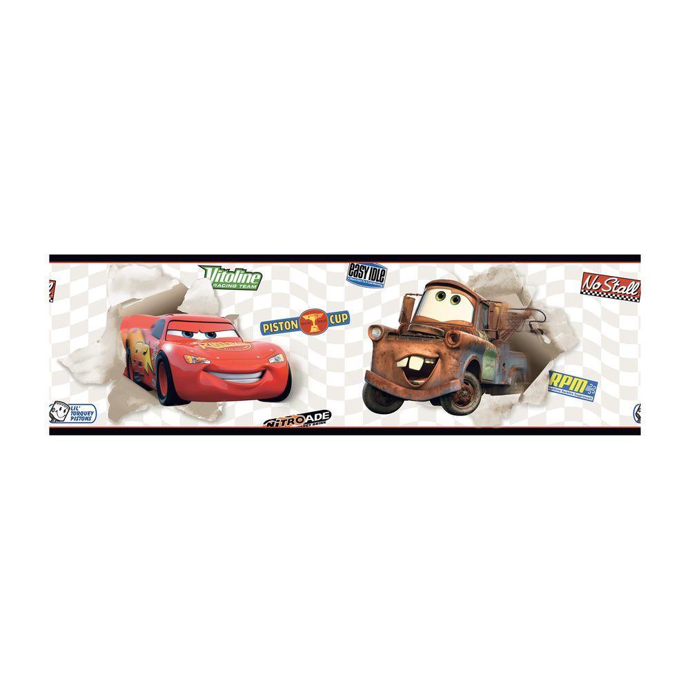 York Wallcoverings Disney Kids Cars McQueen And Mater Wallpaper Border DK6117BD    The Home Depot