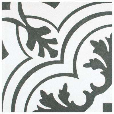 Twenties Vintage Encaustic Ceramic Floor and Wall Tile - 7-3/4 in. x 7-3/4 in. Tile Sample