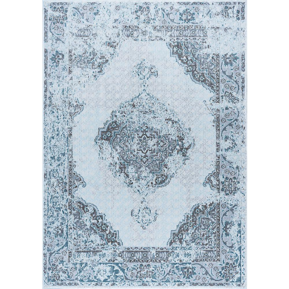 Tayse Rugs Aria Gray 8 ft. x 10 ft. Area Rug