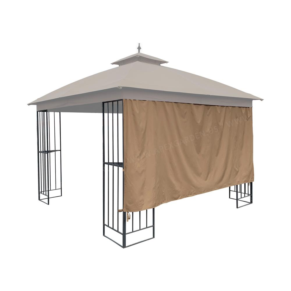 APEX GARDEN Universal 10 ft. Gazebo Privacy Screen Curtain (1 Side Wall Only)
