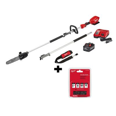 M18 FUEL 10 in. 18-Volt Lithium-Ion Brushless Cordless Pole Saw Kit with 8.0 Ah Battery and 10 in. Saw Chain