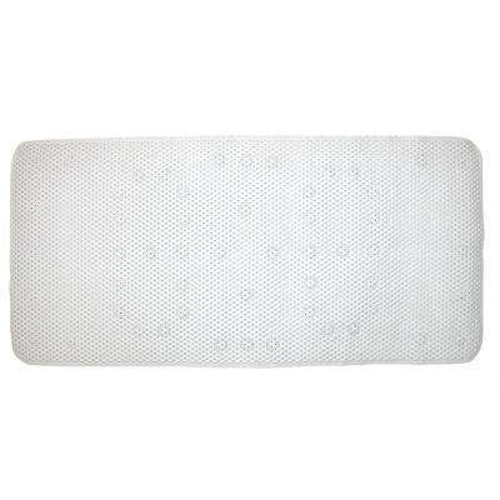 White Cushioned Bath Mat