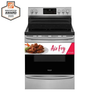 5.7 cu. ft. Electric Range with True Convection Self-Cleaning Oven in Stainless Steel with Air Fry