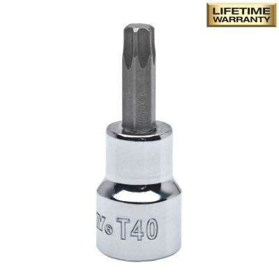 T40 Torx 3/8 in. Drive Bit Socket