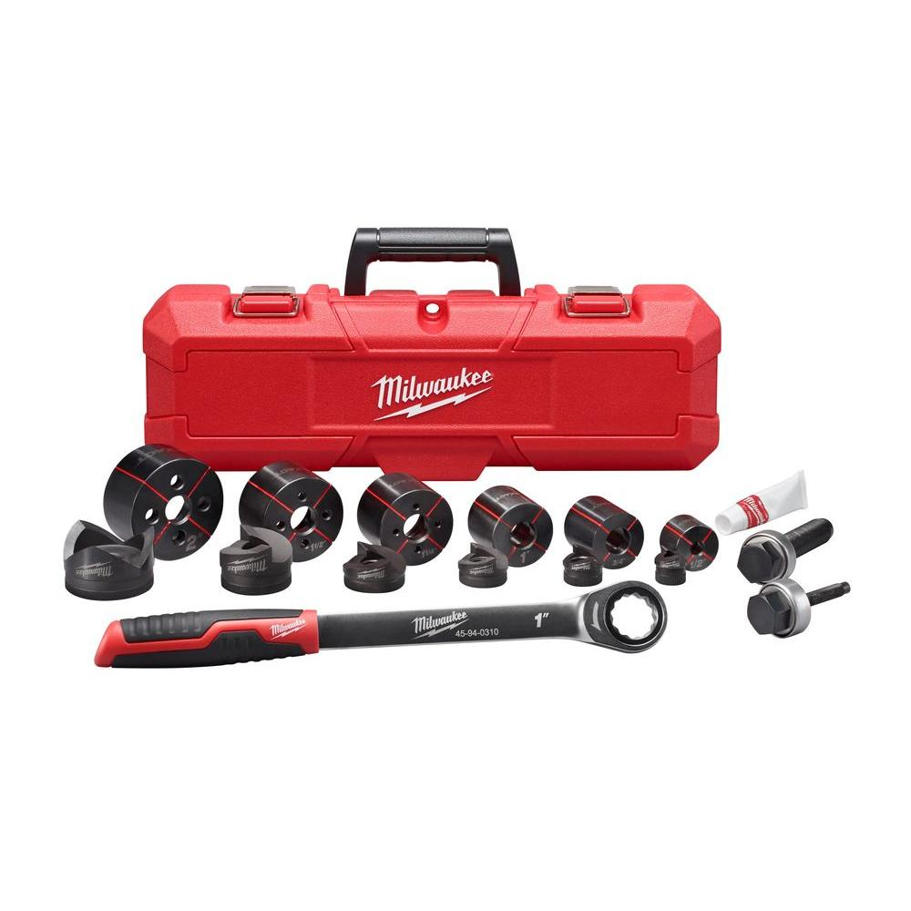 Milwaukee 12 In X 2 In Ratchet Knockout Set 49 16 2694 The Home