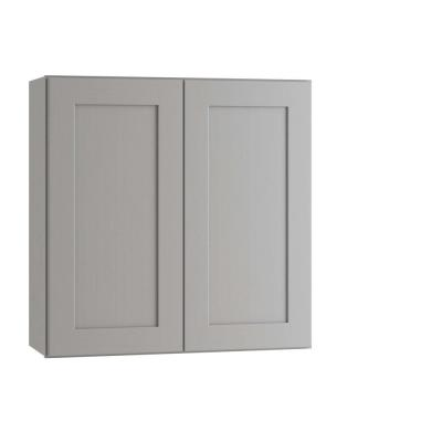 Tremont Assembled 36 x 30 x 12 in. Plywood Shaker Wall Kitchen Cabinet Soft Close in Painted Pearl Gray