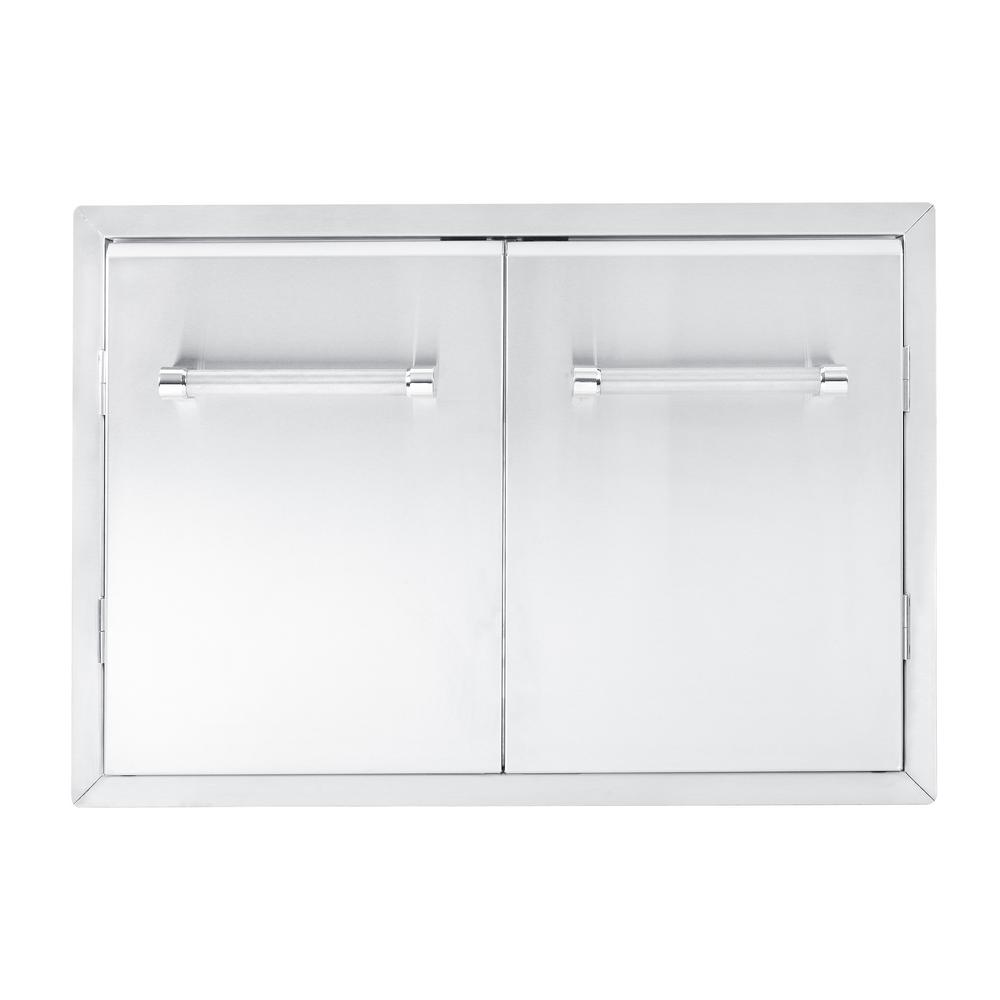 kitchenaid 33 in outdoor kitchen builtin grill cabinet double access door