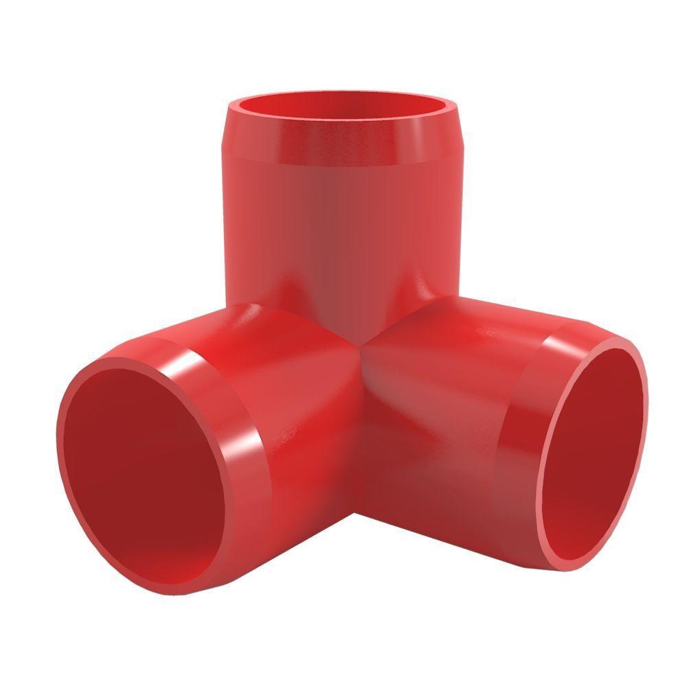 Formufit 1 2 in furniture grade pvc 3 way elbow in red for 2 furniture grade pvc