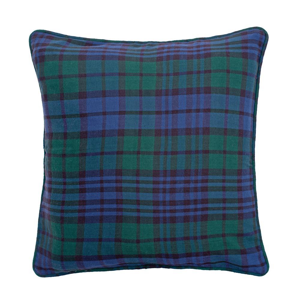 Black Watch Plaid Blue Standard Pillow